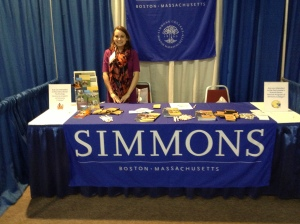 Simmons Booth at MSLA Conference. Sturbridge, MA. Spring 2013.